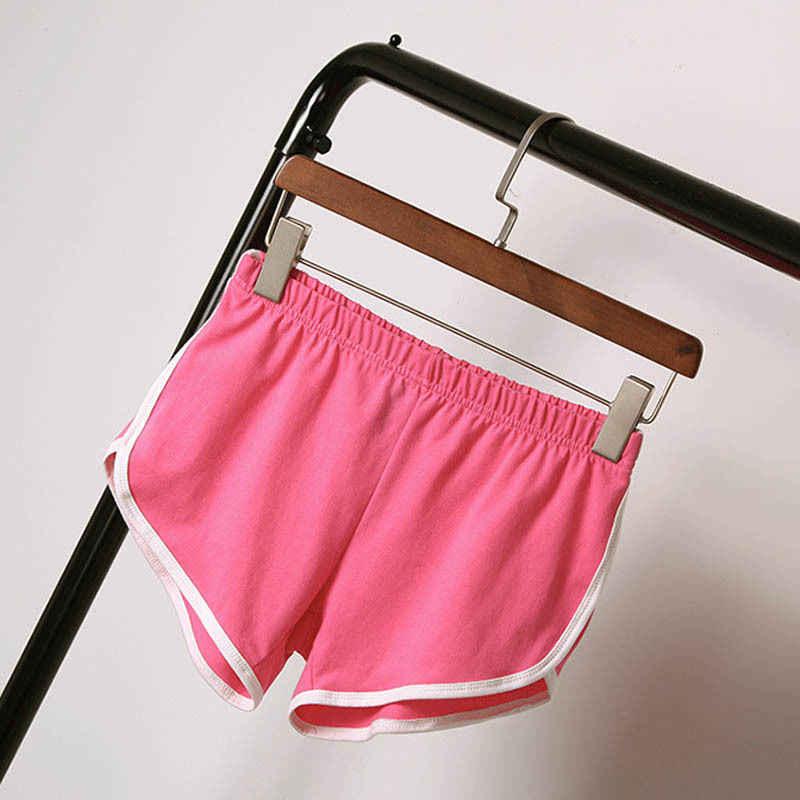 2018 модные повседневные летние шорты для активных женщин, женские прямые шорты с эластичной талией, однотонные шорты с высокой талией, 4 стиля