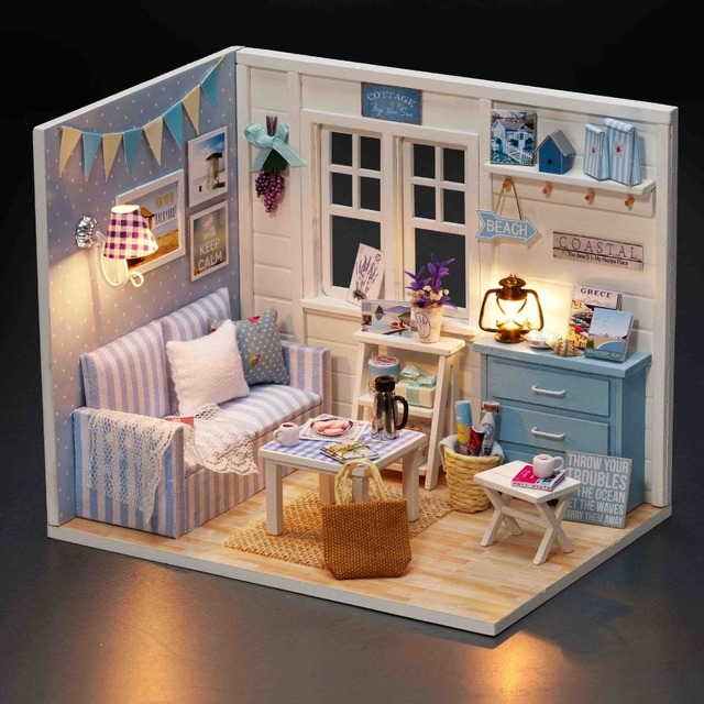 Ursprungliche Echte 3d Diy Rosa Schlafzimmer Blau Wohnzimmer Sofa