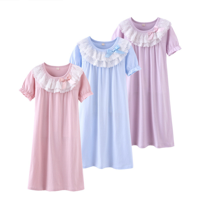 Family Matching Suit Children Girl Clothing Summer Dresses Mom and Daughter Pajamas Cute ...