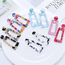 2019 Best Selling Small Fresh Korean Version Acrylic Drop Earrings &7 Color Brincos For Women Jewelry Clothing Accessories Gift