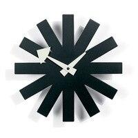 Classic Metal Black White Wall Clock Quartz Needle Fashion Hanging Clocks Watch Living Room Decoration Adornment Crafts Gifts