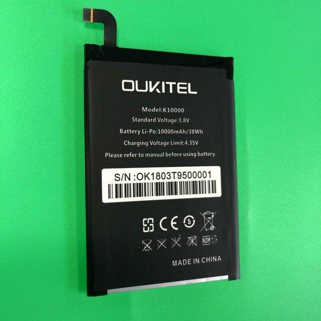 Oukitel k10000 Pil Büyük Kapasiteli 10000 mAh pil değiştirme oukitel k10000 Cep Telefonu