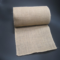 30CM 10M Natural Jute Burlap Fabric Roll For Country Rustic Party Decoration Gift Packing