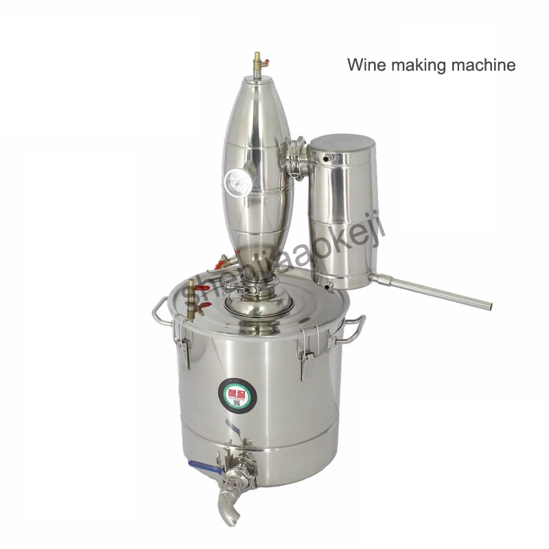 Stainless steel 20L/ 50L Small Wine making machine brewing machines brewers wine distillers Wine brewing equipment 1PCStainless steel 20L/ 50L Small Wine making machine brewing machines brewers wine distillers Wine brewing equipment 1PC