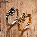 Vintage Chinese Movie Jewelry Rings Fashion Stainless Steel Gold Plated Journey Weapons Monkey King Bar Rings For Men