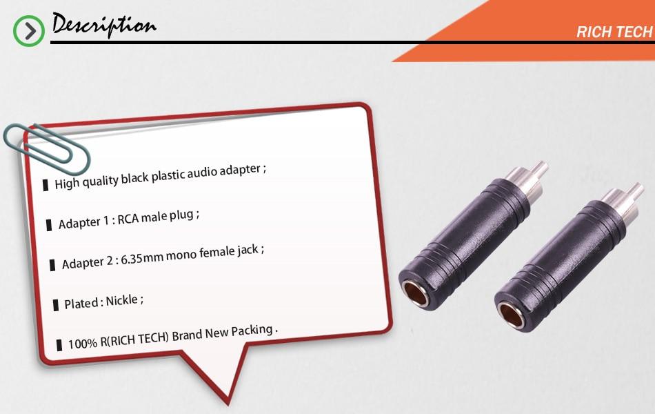 jack soquete conector para rca macho plug altofalante adaptador