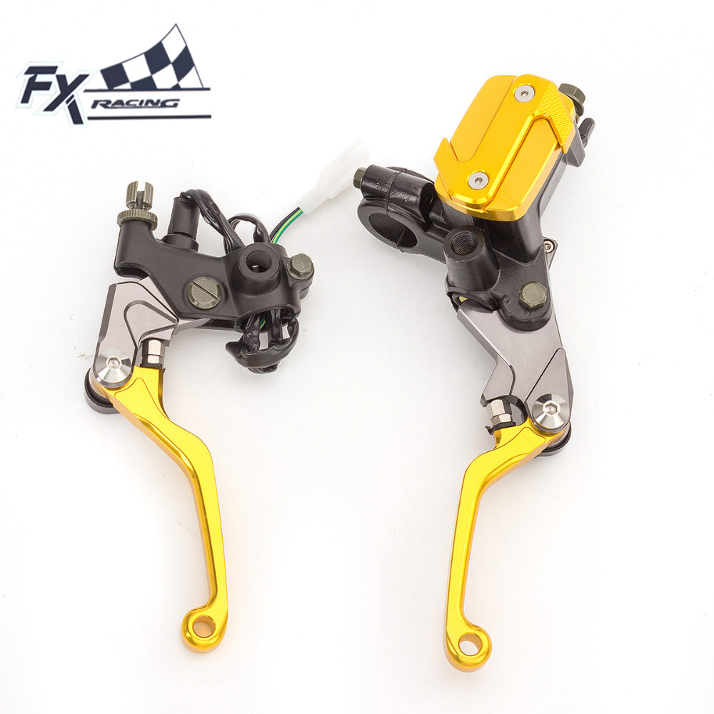 Fx Cnc 7/8 Dirt Pit Bike Motocross Brake Clutch Lever Master Cylinder Reservoir For 50-550CC Suzuki RM RMZ RMX 85 125 250 RM85 universal for kawasaki ninja 250r 1988 2012 cnc motocross off road clutch brake master cylinder reservoir levers dirt pit bike
