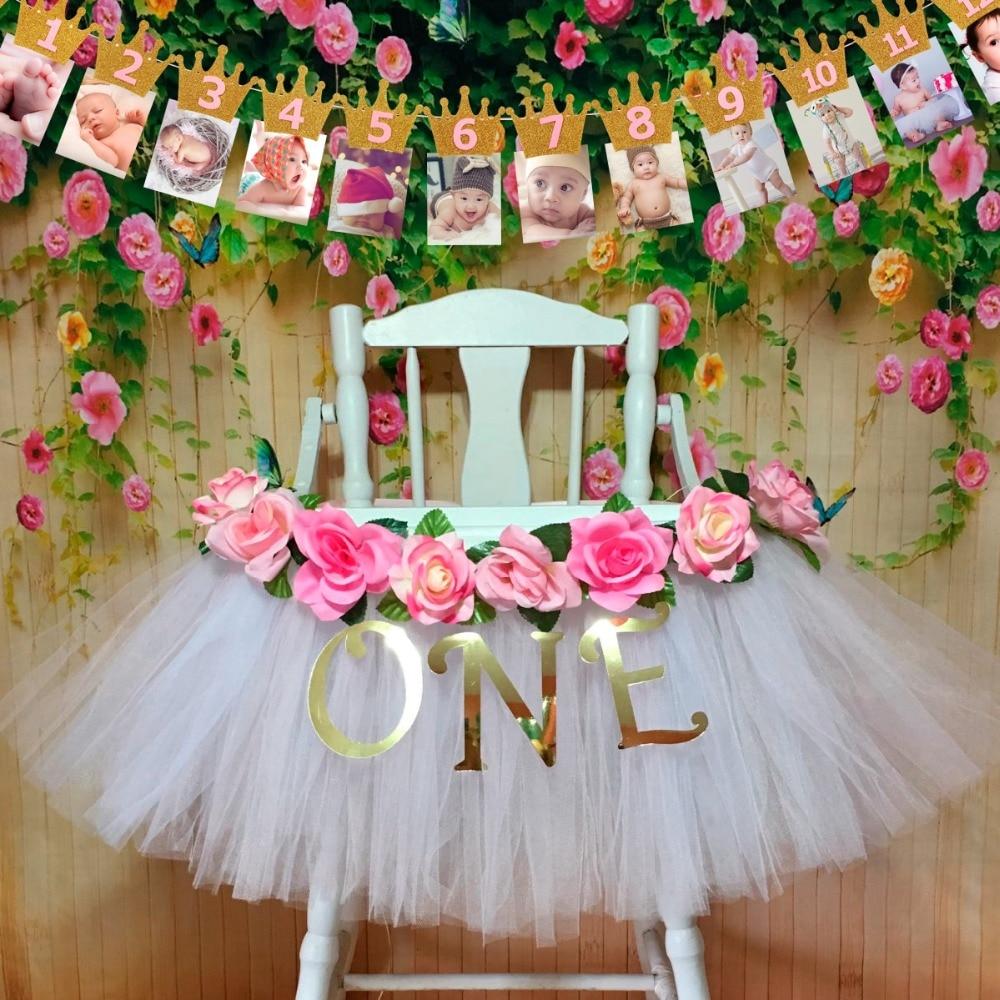 FENGRISE Ersten Geburtstag Baby Bilderrahmen 1st Birthday Banner ...