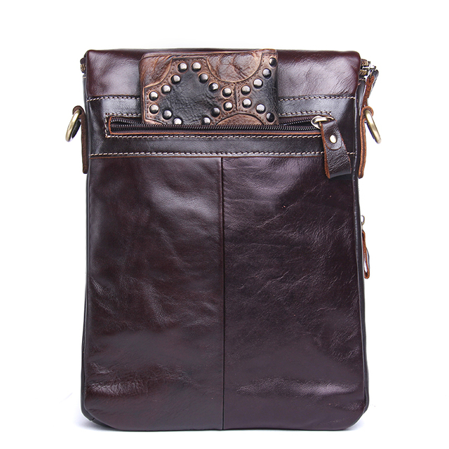 CONTACT'S Fashion Genuine Leather Shoulder Bag Men Crossbody Bags Small Over-the-shoulder Messenger Bags Luxury Male Travel Bag 2
