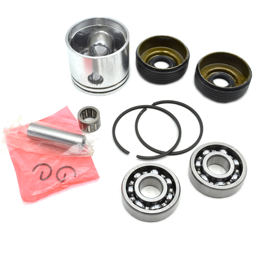 цена на 41mm Piston Ring Needle Bearing Crankshaft Oil Seal Bearing Kit For Partner 350 351 Chainsaw Parts