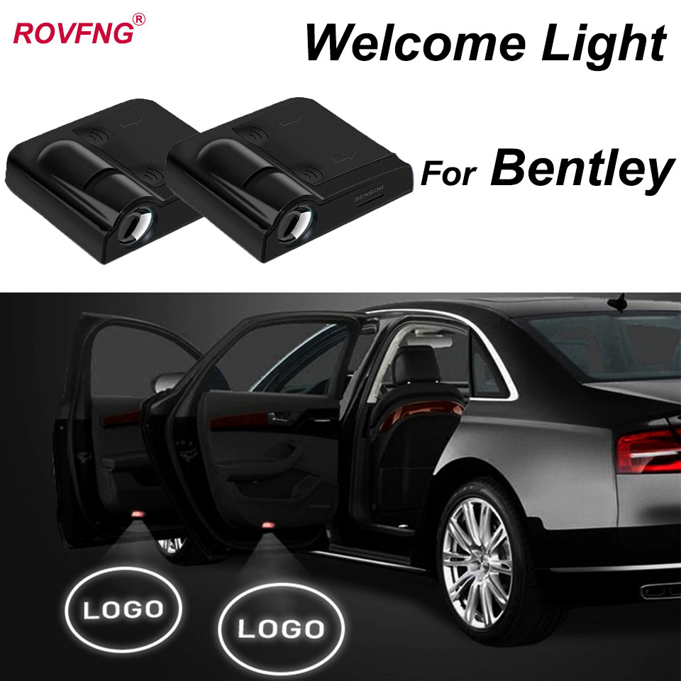 ROVFNG Welcome Door Light 3D Laser For Bentley Logo