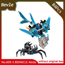 Bevle Store KSZ 609-3 120Pcs BIONICLE Series Warrior Akida Action Figure Model Building Blocks Bricks For Children Toys 71302