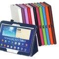 Nova 2013 de couro da tampa do caso para samsung galaxy tab 3 10.1 P5200 P5210 P5220 tablet 10 1 polegada + protetor de tela + caneta