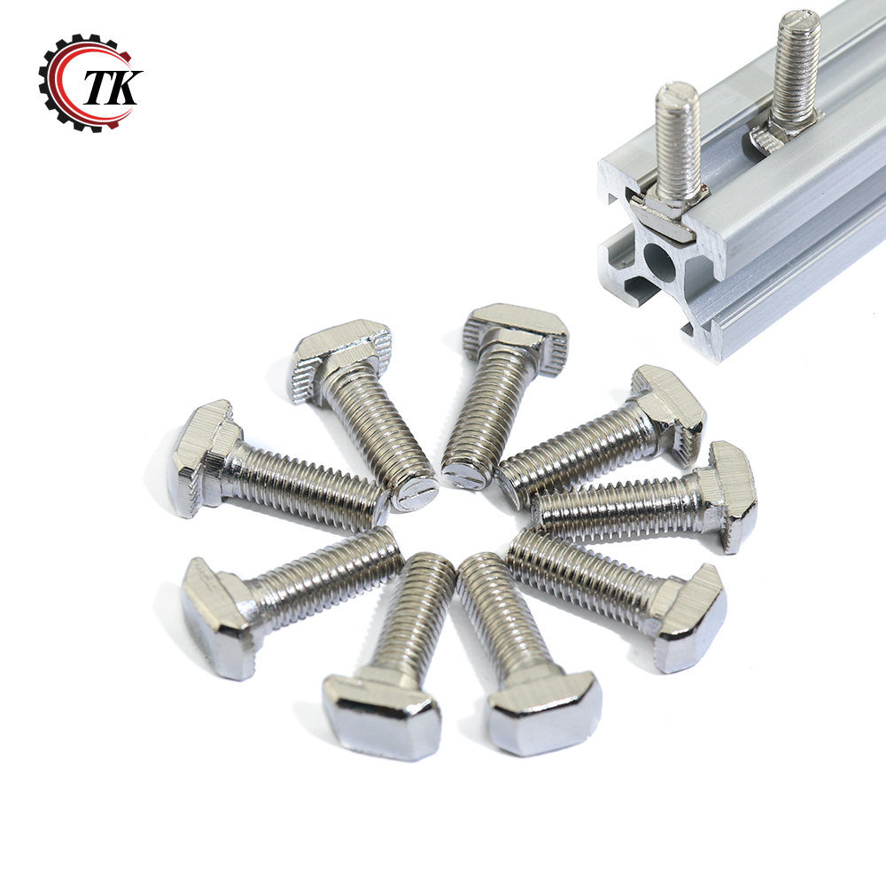 US $3 23 15% OFF|Free Shipping M5 Carbon steel T type Nuts Fastener  Aluminum Connector For Aluminum Profile 2020 T head bolts Screws-in Nuts  from Home