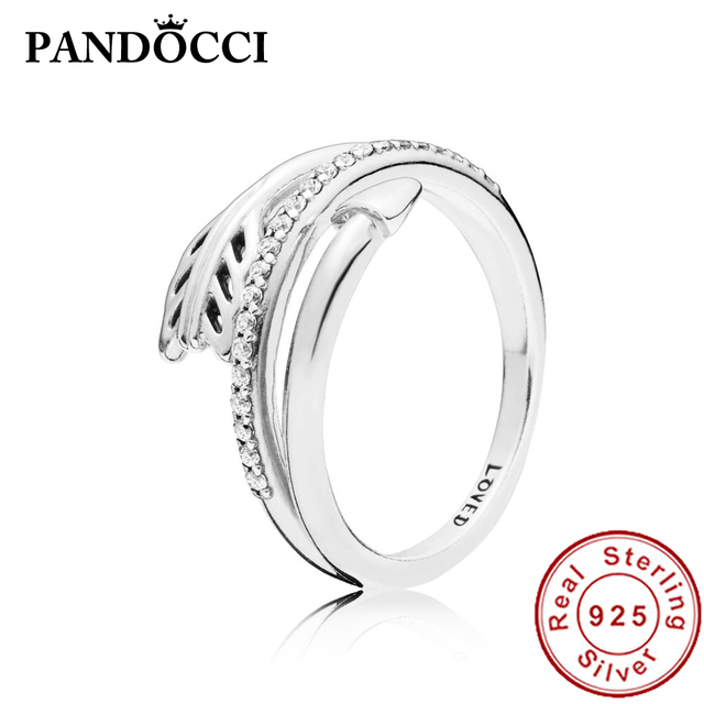 5aefcd9467d72 US $13.13 |PANDOCCI 100% 925 Sterling Silver New 1:1 197830CZ Sparkling  Arrow Ring Romantic Valentine's Day Gift Women's Jewelry-in Rings from  Jewelry ...