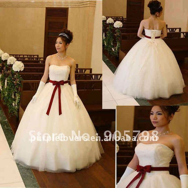 Lastest Fan shaped sash Japanese style wedding dress-in Wedding ...