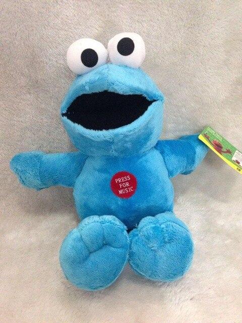 Sesame Street Plush Toys Cookie Monster 30cm Original Toys PP Cotton Talking Version