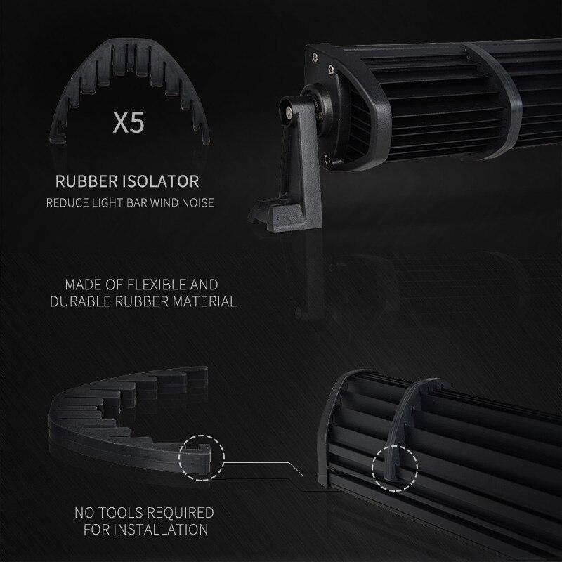 52 Inch 300W LED Light Bar Kit 4 LED Work Light Windshield Mount Bracket with Wireless Control For JEEP Wrangler JK 07 15 - 4