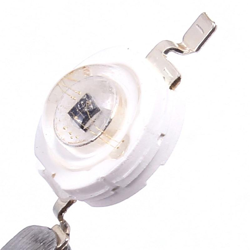 5pcs 3W Infrared LED Lamp Single Lamp Light Beads IR 850-860nm 700MA 2.2-2.6V For Infrared Camera 120-140degree