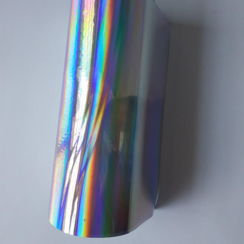 Hot stamping foil silver plain holographic foil hot press on paper or plastic or textile metarials hot foil transfer film