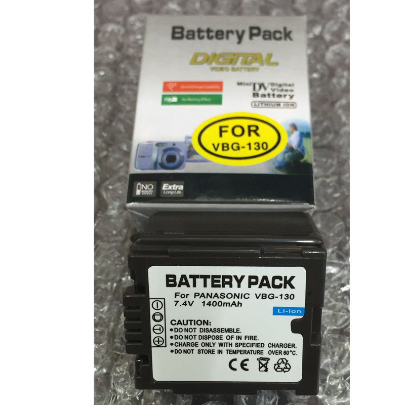 VW-VBG130 VW VBG130 lithium batteries pack VW VBG130 Digital camera battery VBG130 For <font><b>Panasonic</b></font> <font><b>SDR</b></font>-<font><b>H80</b></font> HDC-DX5 HDC-TM20 image