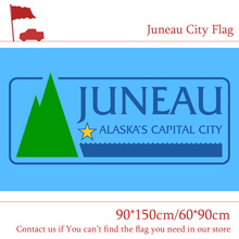 Free shipping 90*150cm 60*90cm Flag 3x5ft Custom High-quality Polyester Juneau City Flag Capital of Alaska For Campaign Vote free shipping washington d c flag custom 3x5ft high quality campaign vote 30 45cm car flag 90 150cm 60 90cm flag