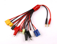 Multifunctional Lipo Battery Multi Charger Plug Convert Cable 10 in 1 Transfer Line RC Hobbies Accessories