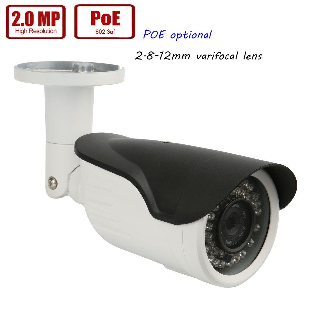 Здесь продается  Outdoor IP Camera 1080p Full HD Camera 2.8-12mm lens Network Security Surveillance CCTV Camera POE Power Over Ethernet optional  Безопасность и защита