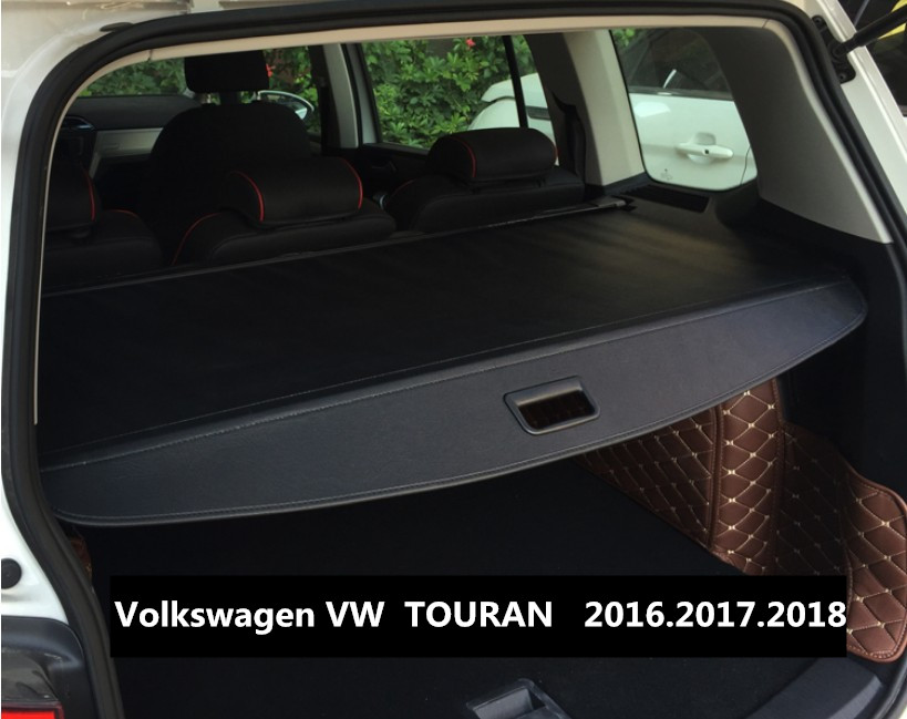 Car Rear Trunk Security Shield Cargo Cover For Volkswagen VW TOURAN 2016.2017.2018 High Qualit  Auto Accessories car rear trunk security shield cargo cover for dodge journey 5 seat 7 seat 2013 2014 2015 2016 2017 high qualit auto accessories