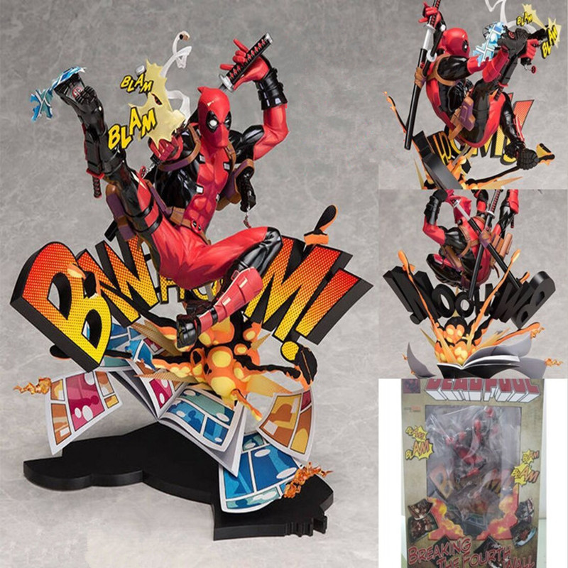 New X-men Marvel Deadpool Breaking The Fourth Wall Blam Complete Figure Model Toy 23cmNew X-men Marvel Deadpool Breaking The Fourth Wall Blam Complete Figure Model Toy 23cm