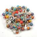 Phoenix natural stone bead catholic rosary