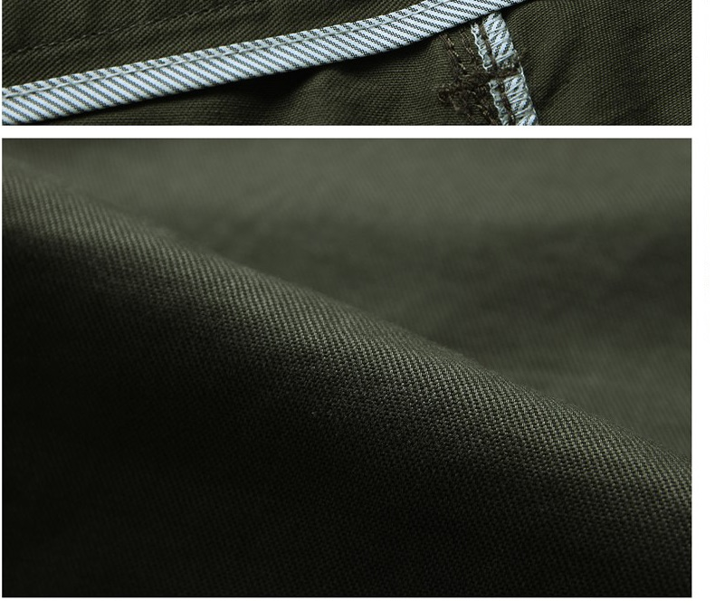 2018 Businessmen Casual Stretch male trousers man long Straight Pure cotton full length pants Black Army Green Khaki plus size in Casual Pants from Men 39 s Clothing