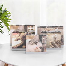 New 2019 Year Lovely Cute Cartoon Animals Series Cat weekly planner Monthly plan To Do List Table Calendars Desk Calendar Office