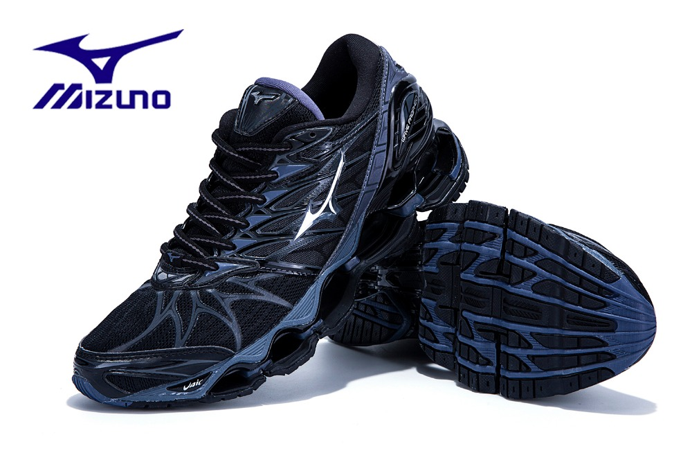 MIZUNO WAVE Prophecy 7 professional running shoes Men Outdoor Sports Weight lifting Shoes Black Violet basketball shoes new new help in basketball shoes hip hop sports running shoes