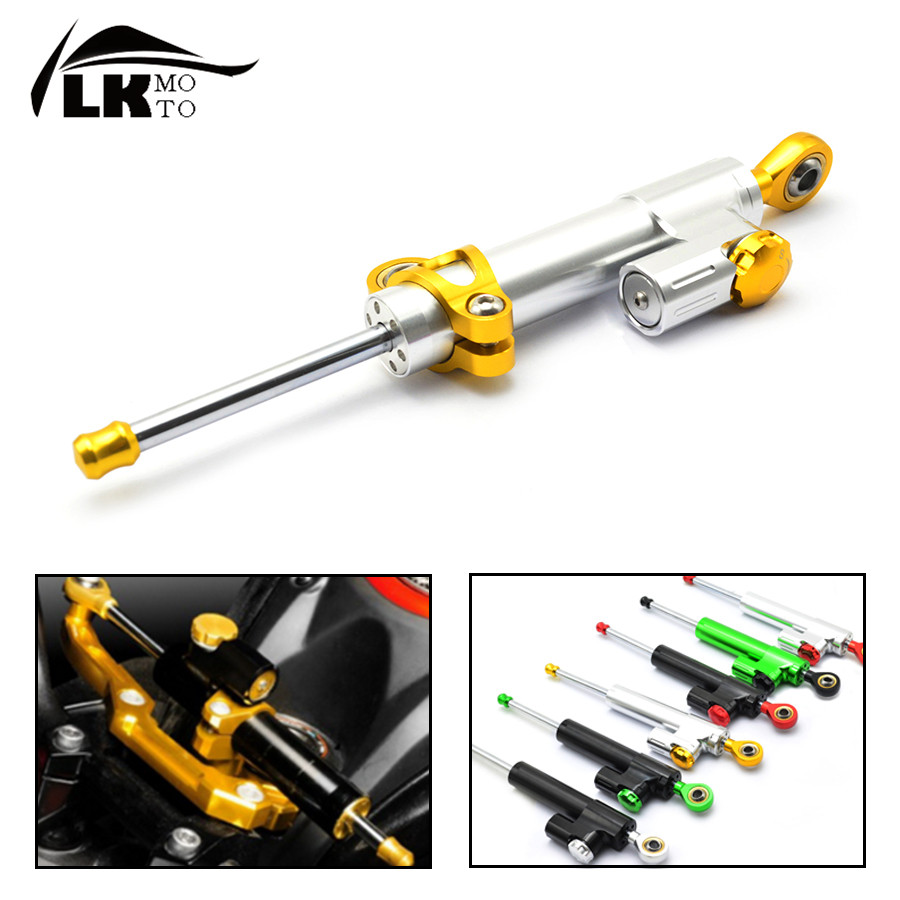 Universal CNC aluminum Steering Stabilizer Damper Linear Reversed Safety Control for hyosung gt250r  gt650r  Vespa PX80-200 universal motorcycle olhins steering damper aluminum alloy steering damper stabilizer linear reversed safety control 5 colors