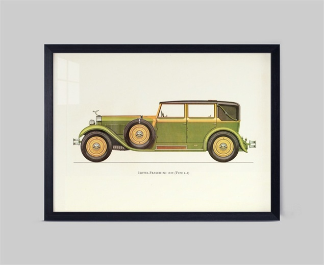 Wall picture no frame modern classic car canvas print for for Antique car decor