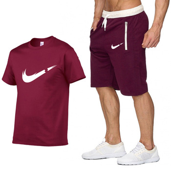 Brand Clothing Two Pieces Sets Men T-shirt  1