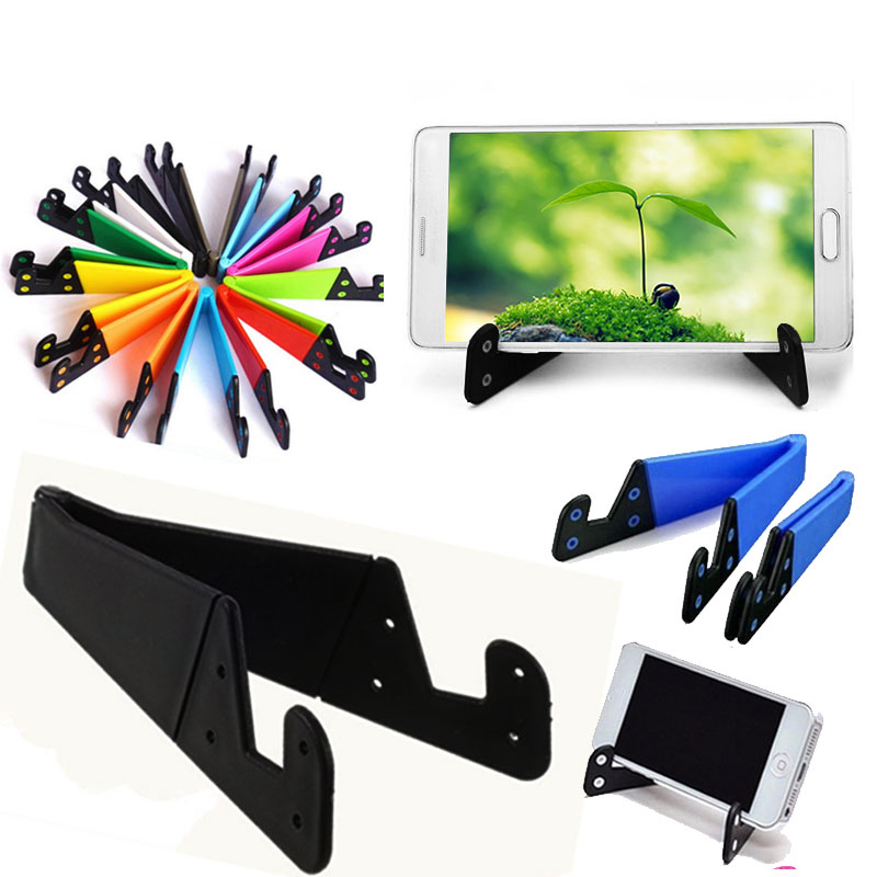 Universal V-Shaped Mobile Phone Stand Flexible Desk Phone Holder For IPad IPhone Samsung Adjustable Smartphone And Tablet Stand