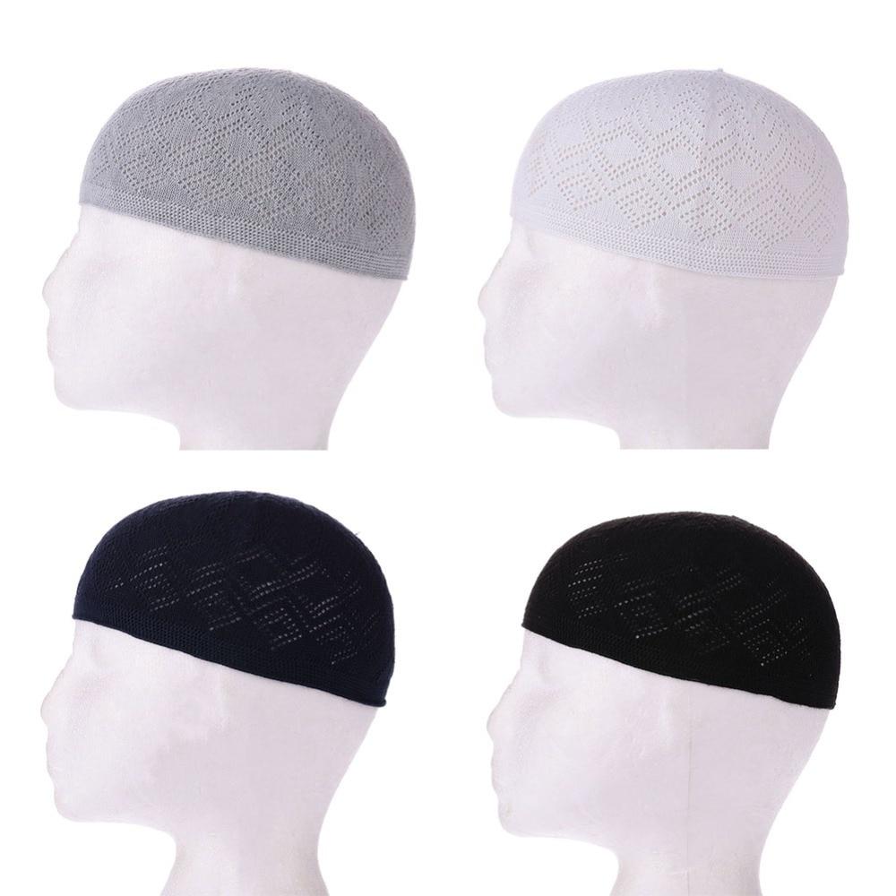 Muslim Men Prayer Hats Beanie Turkish Arabic Knitted Hat Crochet Islamic Caps For Man Kids Fashion Accessories Arab Clothes