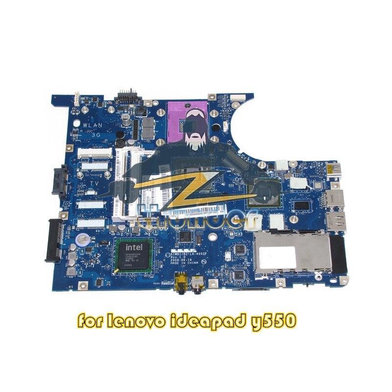 LA-4602P for lenovo ideapad Y550 laptop motherboard GM45 DDR3 GPU GeForce GT240M original la 5371p laptop motherboards for lenovo y550 y550p motherboard pm55 n10p gs a2 ddr3 non integrated 100% test ok