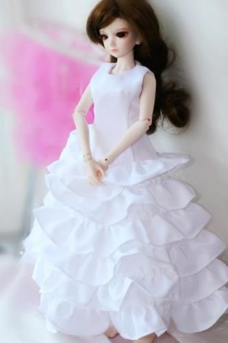 ФОТО 109# White Clothes/Dress/Outfit 1/3 SD DOD BJD Dollfie