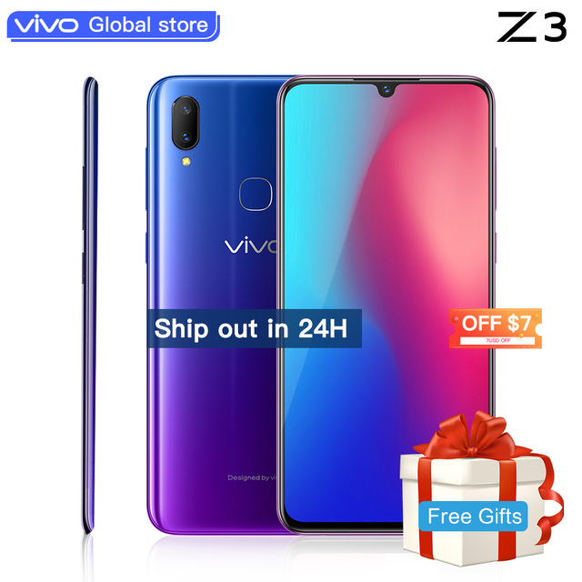 """Mobile Phone celular vivo Z3 Snapdragon 670/710AIE 16MP Front camera LTE Android 8.1 4G/6G+64G/128G 6.3"""" Screen  SmartPhone"""