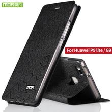 Huawei P9 Lite крышки случая кремния назад Huawei G9 5.2 «Huawei P9 lite дело роскошные Mofi кожи сальто алюминиевая крышка fundas cas