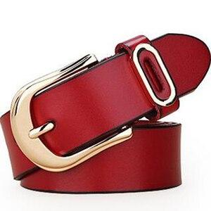 Image 4 - Cinturón de diseñador actual para mujer, cinturones de lujo de marca famosa, correa de cintura para mujer, cinturón con hebilla de cuero genuino