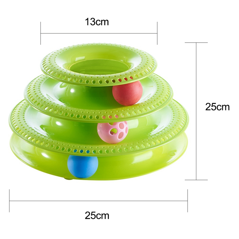 3 4 Layers Cat Crazy Pet Toys Ball Disk Interactive Amusement Plate Play Disc Trilaminar Turntable Cat Toy Scratcher Cats Gift in Cat Toys from Home Garden