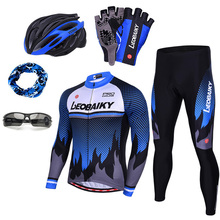 2019 Brand Pro Team Cycling Jersey Set Men Autumn Long Sleeve Bicycle Clothes Padded Mountain Bike Clothing Mtb Cycle Accessoire santic autumn winter women winter cycling set bicycle jacket padded pants pro team cycling clothing mtb bike long jersey set