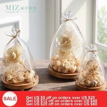 Miz Home 1 Piece Transparent Landscape Small Vase for Office Desktop Creative Glass Cover BJ090015