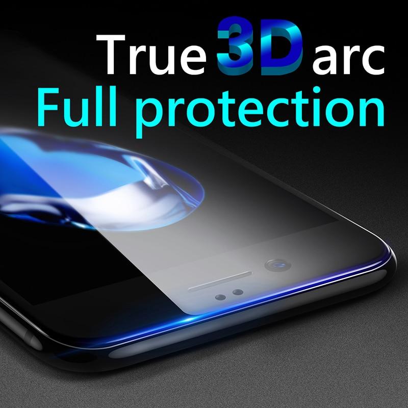 Baseus 3D Pelindung Layar Untuk iPhone 7 6 6 s penuh Melengkung Kaca - Aksesori dan suku cadang ponsel - Foto 2