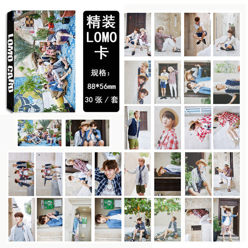 все цены на Youpop KPOP BTS Summer Package WINGS Bangtan Boys Album LOMO Cards K-POP Fashion Self Made Paper Photo Card HD Photocard LK425
