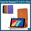 Fashion print Stand leather case cover For Huawei MediaPad T1 7.0 Tablet case for huawei T1-701u case+screen protector+touch pen